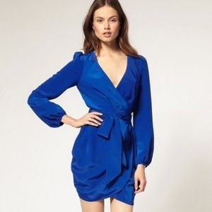 ASOS Mini Wrap Dress with bell sleeves
